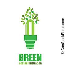 green energy design over white background vector...
