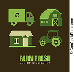 farm design over brown background vector illustration