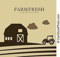 farm design over landscape background vector illustration