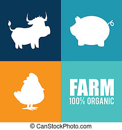 farm design over colorful background vector illustration