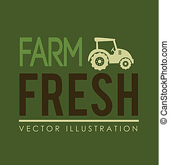farm design over green background vector illustration