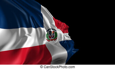 Flag of Dominican Republic - Beautiful 3d animation of...