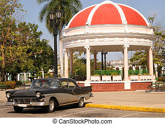 Cienfuegos square, Cuba - Plaza Jose Marti, a city square in...