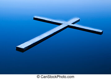 Glowing Water Cross