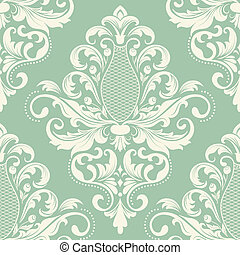 Damask seamless pattern element - Vector damask seamless...