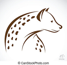 Vector image of an hyena on white background