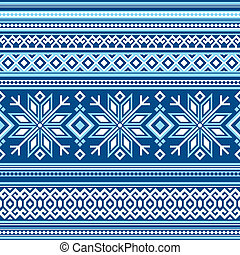Scandinavian pattern seamless - vector seamless background...