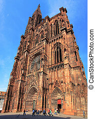 Strasbourg Cathedral - View of Strasbourg Cathedral from...