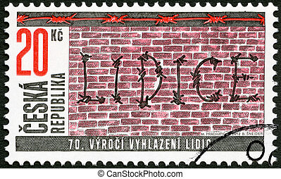 CZECH REPUBLIC - CIRCA 2012: A stamp printed in Czech...