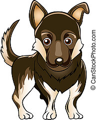 German shepherd dog - Illustration with german shepherd dog...