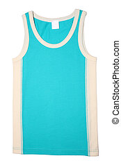 Childrens singlet isolated on white background