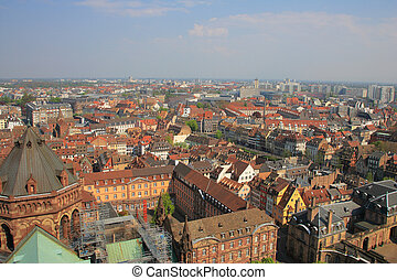 Colorful roof tops of Strasbourg France