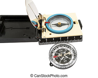 Compass - The tourist compass on a white background