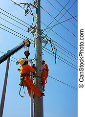 electrician repair system of electric wire - BINH THUAN,...