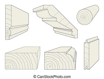 Wood Profiles - A selection of wood section profiles