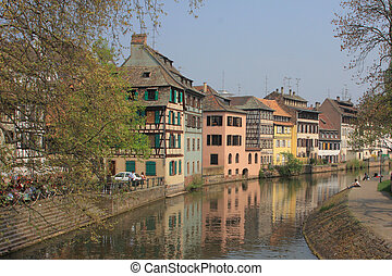 Strasbourg city - Small France - A part of Strasbourg city