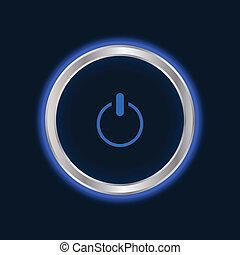 website power button, vector EPS10