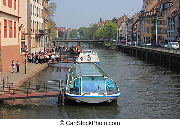 Strasbourg city - Small France - Boats makis the Strasbourg...