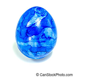 Blue easter egg