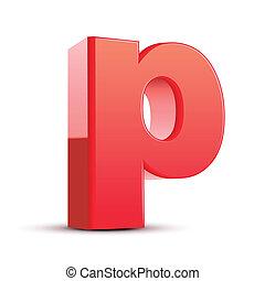 3d letter p