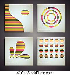 Graphic design - Set of four graphic design elements