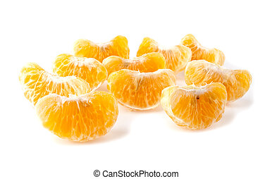mandarine on a white background