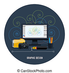 Web design concept. Graphic design