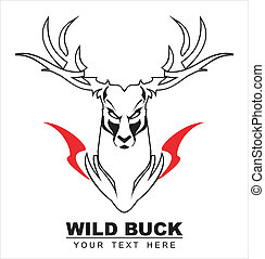 White Wild Buck - symbolizing the power, protection,...