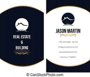 Real estate business card.