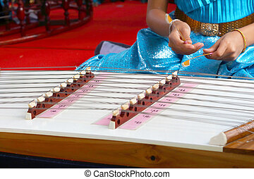Children playing dulcimer Thailand - Children playing...