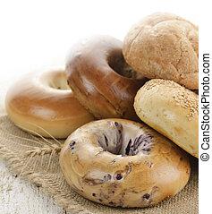 Assortment Of Bread,Close Up Shot