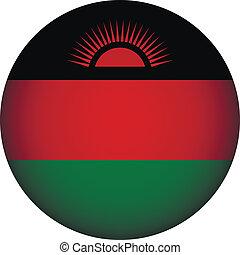 Malawi flag button.