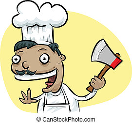 Ax Chef - A cartoon chef happily holding an ax.