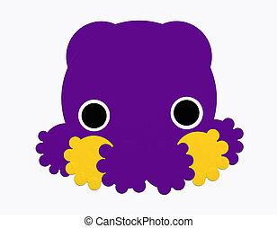 Purple squid