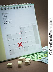 control pills on a calendar - control pills on a may...