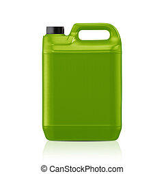 Plastic gallon - Green plastic gallon, jerry can isolated on...
