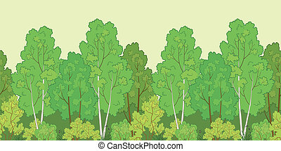 Seamless background, forest - Seamless background, green...