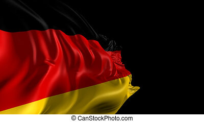 Flag of Germany - Beautiful 3d animation of Germany flag...