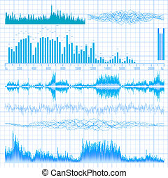 Sound waves set Music background EPS 10 vector file included...