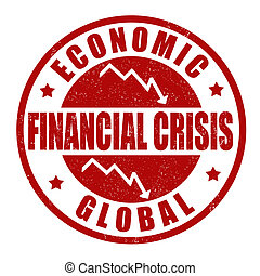 Financial crisis stamp