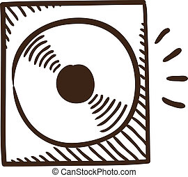 CD or DVD symbol - Isolated sketch icon pictogram Eps 10...