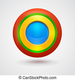 Empty bright colorful button. Interface vector element