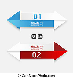 Modern Design template arrow style/ can be used for...