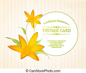 Crocus spring flowers for your card design. - Crocus spring...