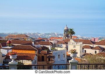 skyline of Orotava, Tenerife island, Canarias, Spain