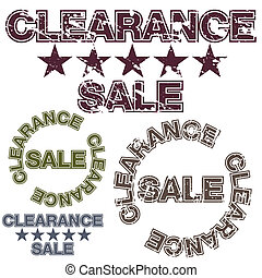 Clearance Sale - An image of a clearance sale message.