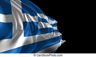 Flag of Greece - Beautiful 3d animation of Greece flag with...