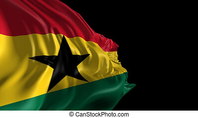 Flag of Ghana - Beautiful 3d animation of Ghana flag with...