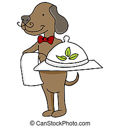 Organic Pet Food with Dog - An image of a dog serving...