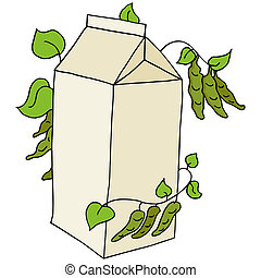 Soy Milk - An image of a carton of soy milk